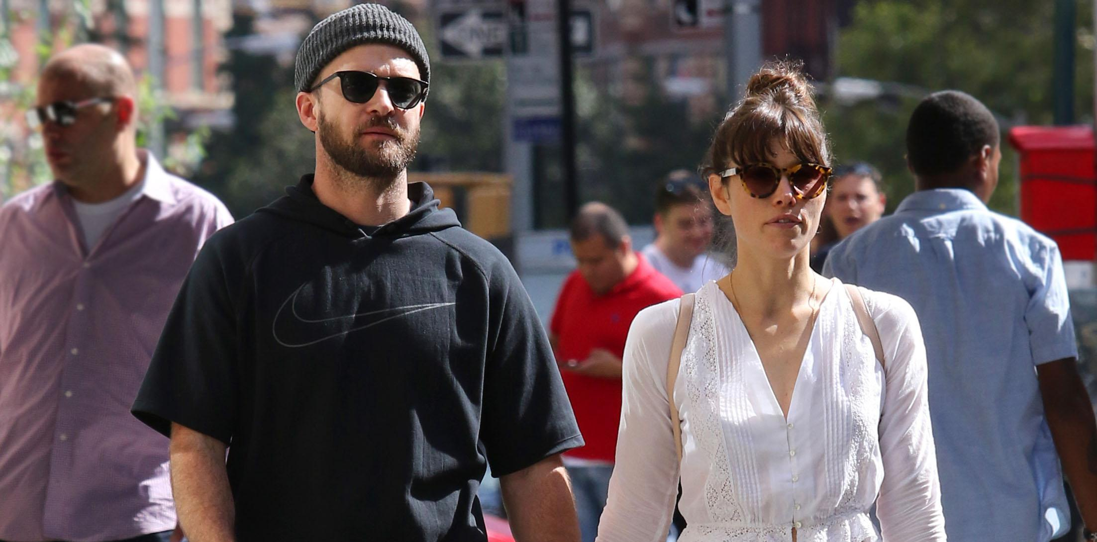 Justin Timberlake and Jessica Biel hold hands while taking a romantic stroll in NYC