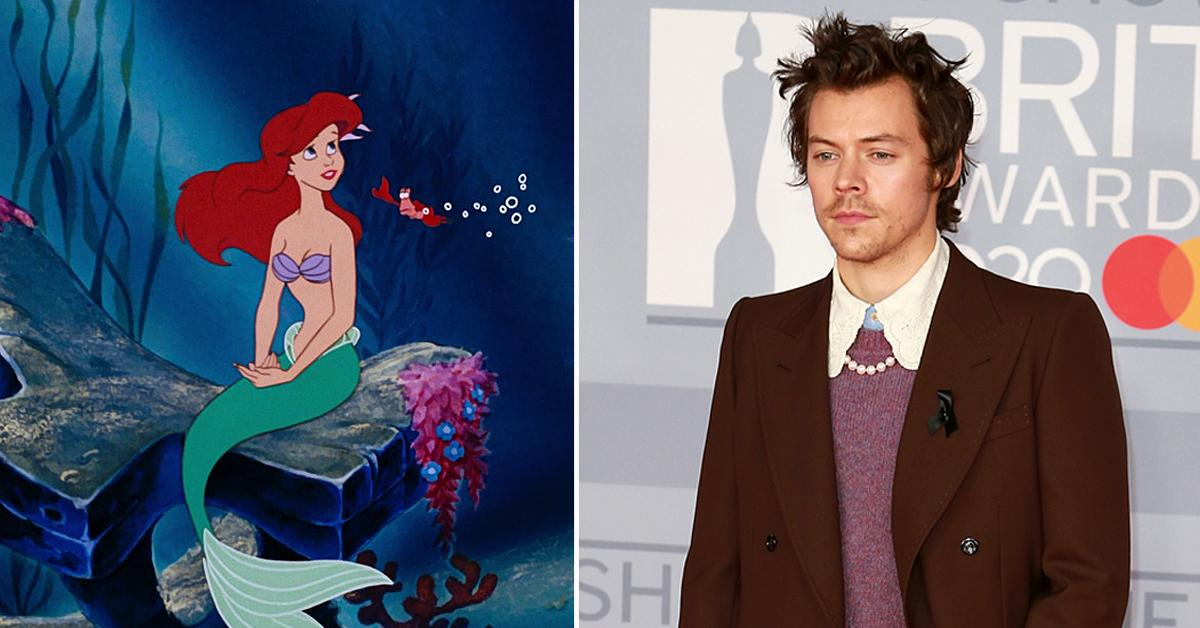 harry styles the little mermaid ariel resurfaced snl photoshoot