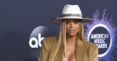 Tyra Banks has banned Chrissy Teigen from dancing on DWTS