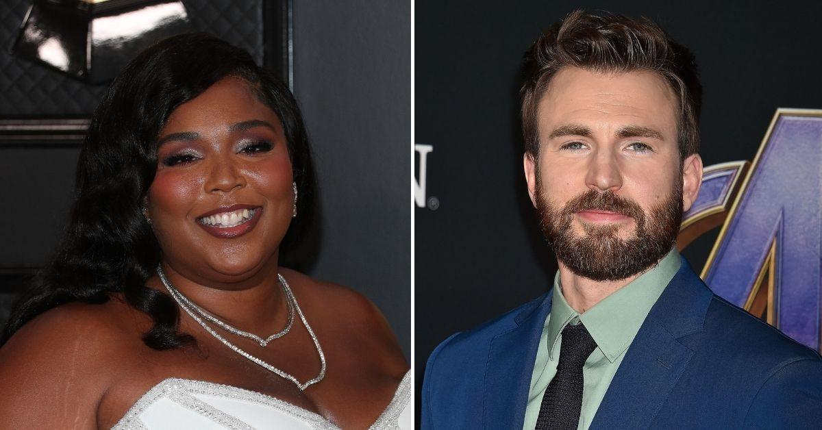 chris evans responds drunk dm lizzo
