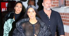 Kim Kardashian struts her stuff in an all black ensemble during New York Fashion Week
