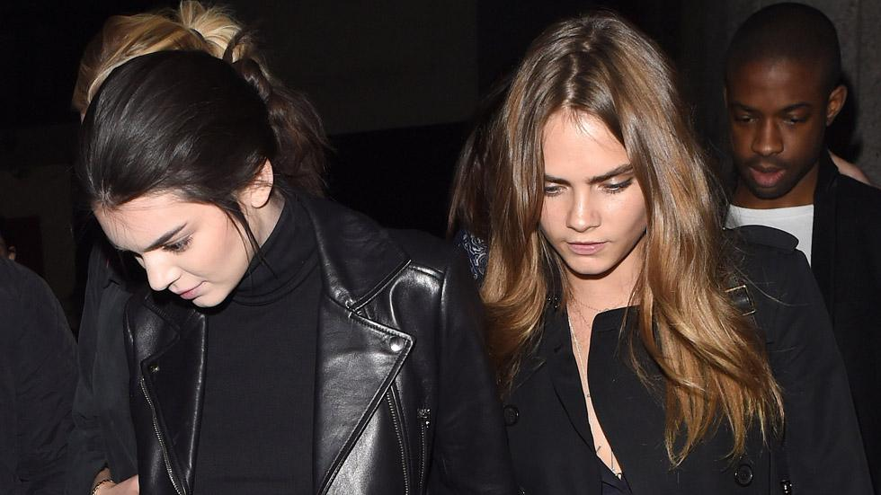 Kendall Jenner and Cara Delevingne pair up at the Giles Deacon Show **USA ONLY**