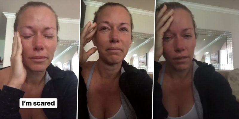 Kendra wilkinson sobbing instagram divorce hank baskett