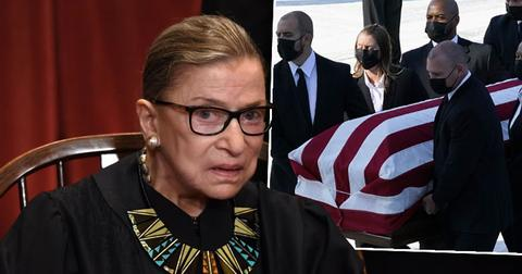 Justice Ruth Bader Ginsburg in Repose at the Supreme Court of the US
