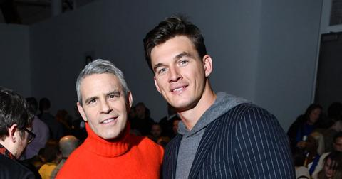 Andy Cohen And Tyler Cameron At New York Fashion Week
