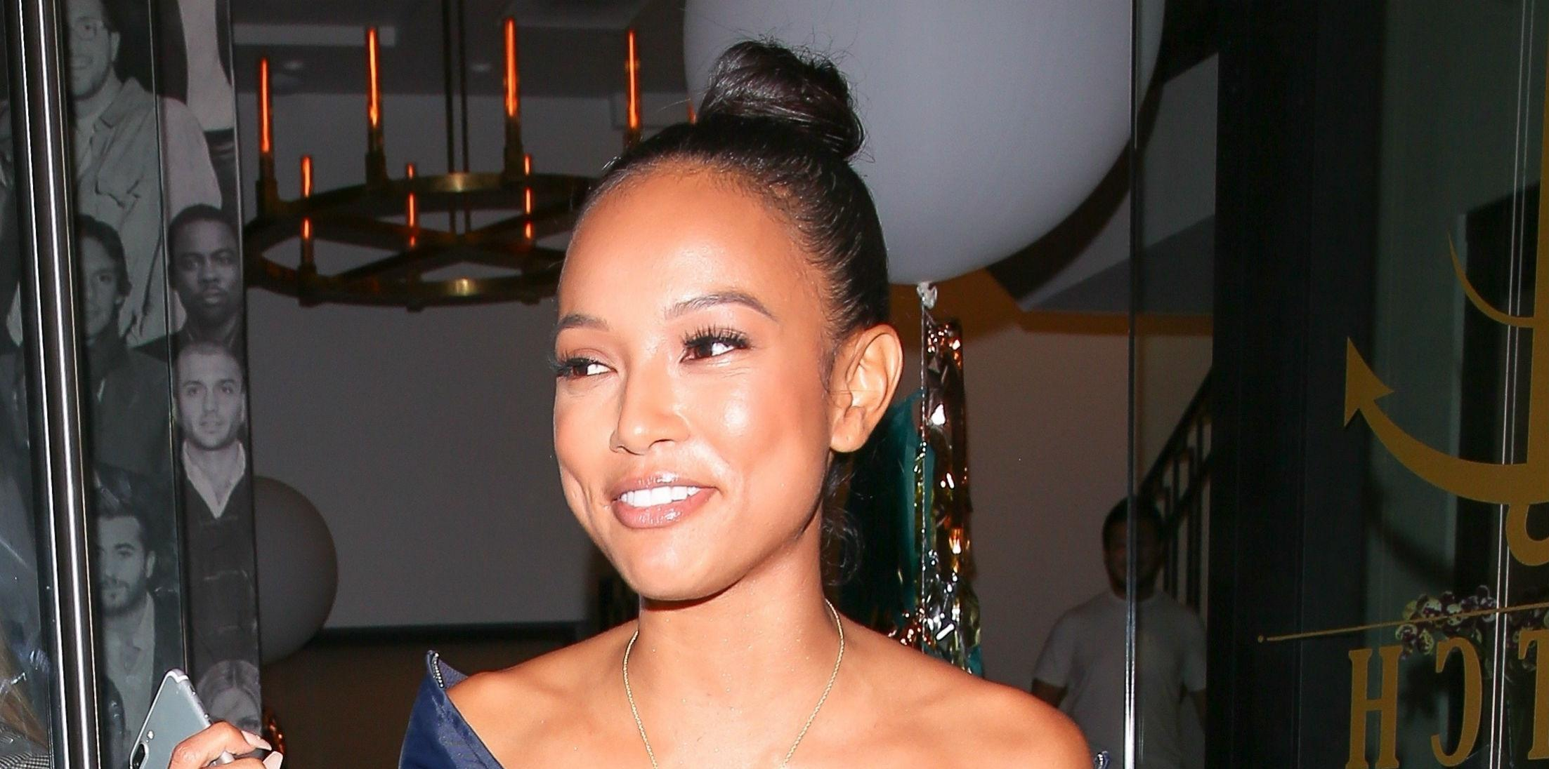 Karrueche Tran Wears Revealing Outfit Thong Photos hero