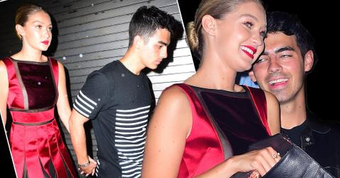 gigi hadid joe jonas dating pda fashion week party