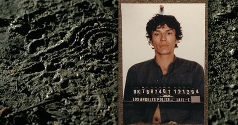 "Richard Ramirez (The Night Stalker) in episode 4 ""Manhunt"" of Night Stalker: The Hunt for a Serial Killer."