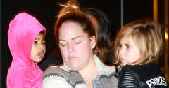 EXCLUSIVE: Kim Kardashian and Kanye West's daughter North West goes to a movie theater in Calabasas with cousin Penelope Disick, two nannies and a bodyguard