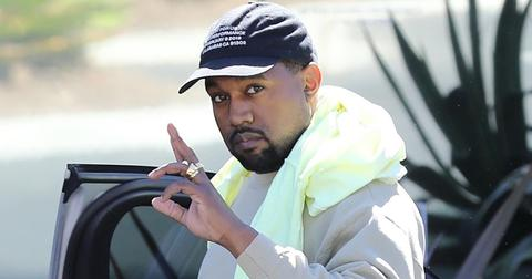 Kanye West looks ready for the Country Club while at his office in Calabasas
