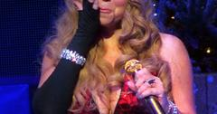 Mariah Carey breaks down in tears singing 'Hero' on stage at the Beacon Theater in NYC