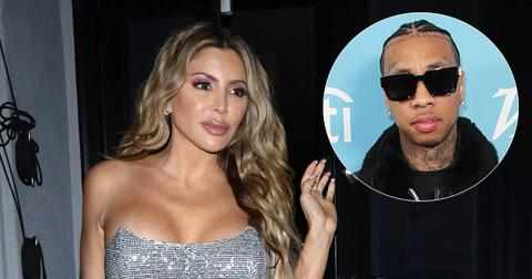 Larsa Pippen In Silver Dress Tyga Inset