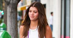 *EXCLUSIVE* Sofia Richie goes braless during coffee run with Scott
