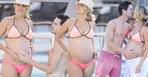 pregnant ali fedotowsky bikini
