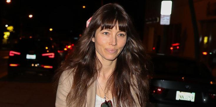 Jessica Biel Restaurant Au Fudge No Makeup Justin Timberlake Long