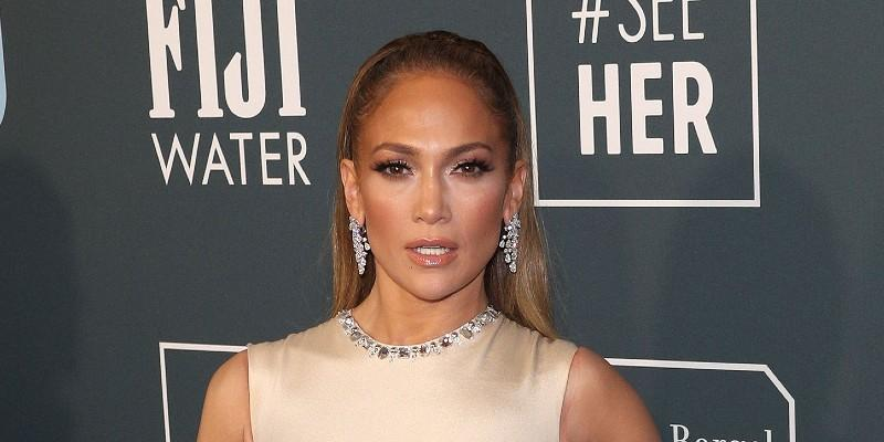 Jennifer Lopez Wearing Gold Dress