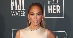 Jennifer Lopez Wearing Gold Dress