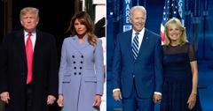 president joe biden jill donald trump melania holding hands couple photo pf
