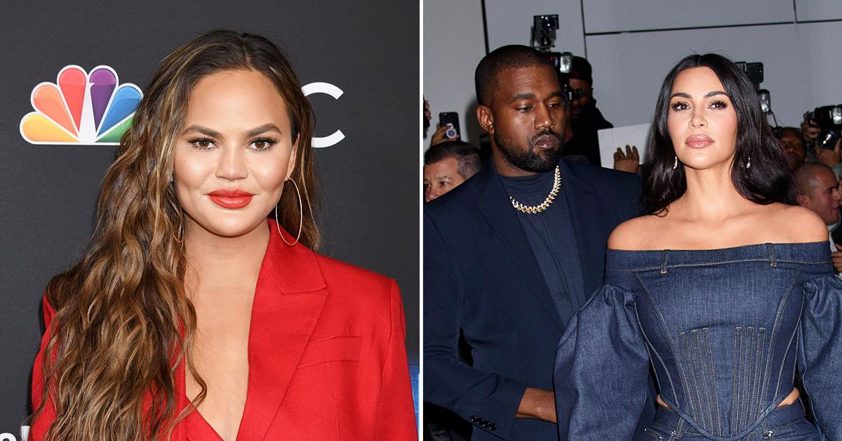 chrissy teigen weighs in on kim kardashian kanye west split