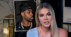 KUWTK Khloe Kardashian speaking about Tristan Thompson (inset)