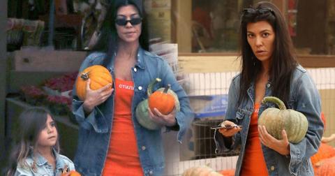 Kourtney kardashian pumpkin patch