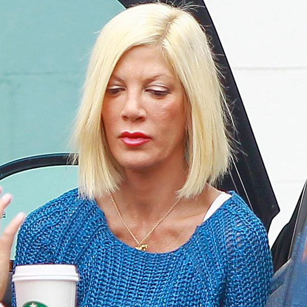 Tori Spelling shows offa  deep tan and a very slim figure as she takes her daughter Stella to dance class, while reality cameras roll ****NO DAILY MAIL SALES***