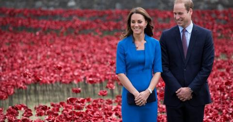 Prince William and Kate Middleton at the Tower of London's Ceramic Poppy Field