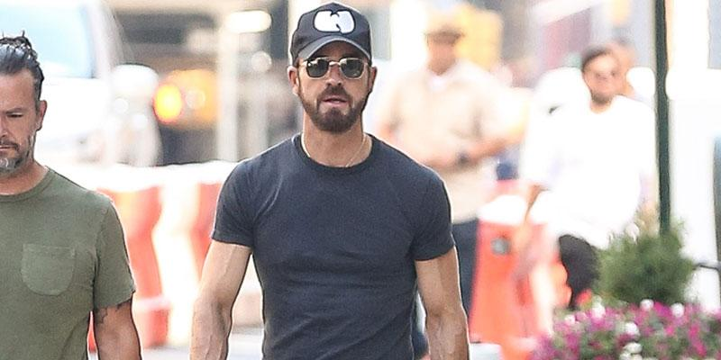 Justin theroux lonely stroll with dog nyc main