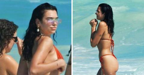 Dua Lipa looks stunning as she hits the beach in a bikini