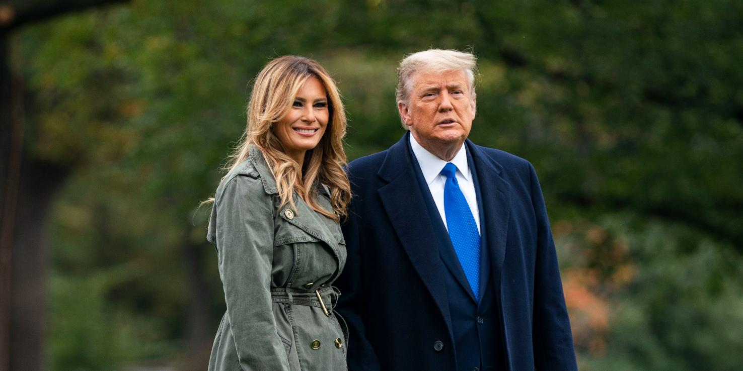 Donald and Melania Trump departs White house for last week of campaigning