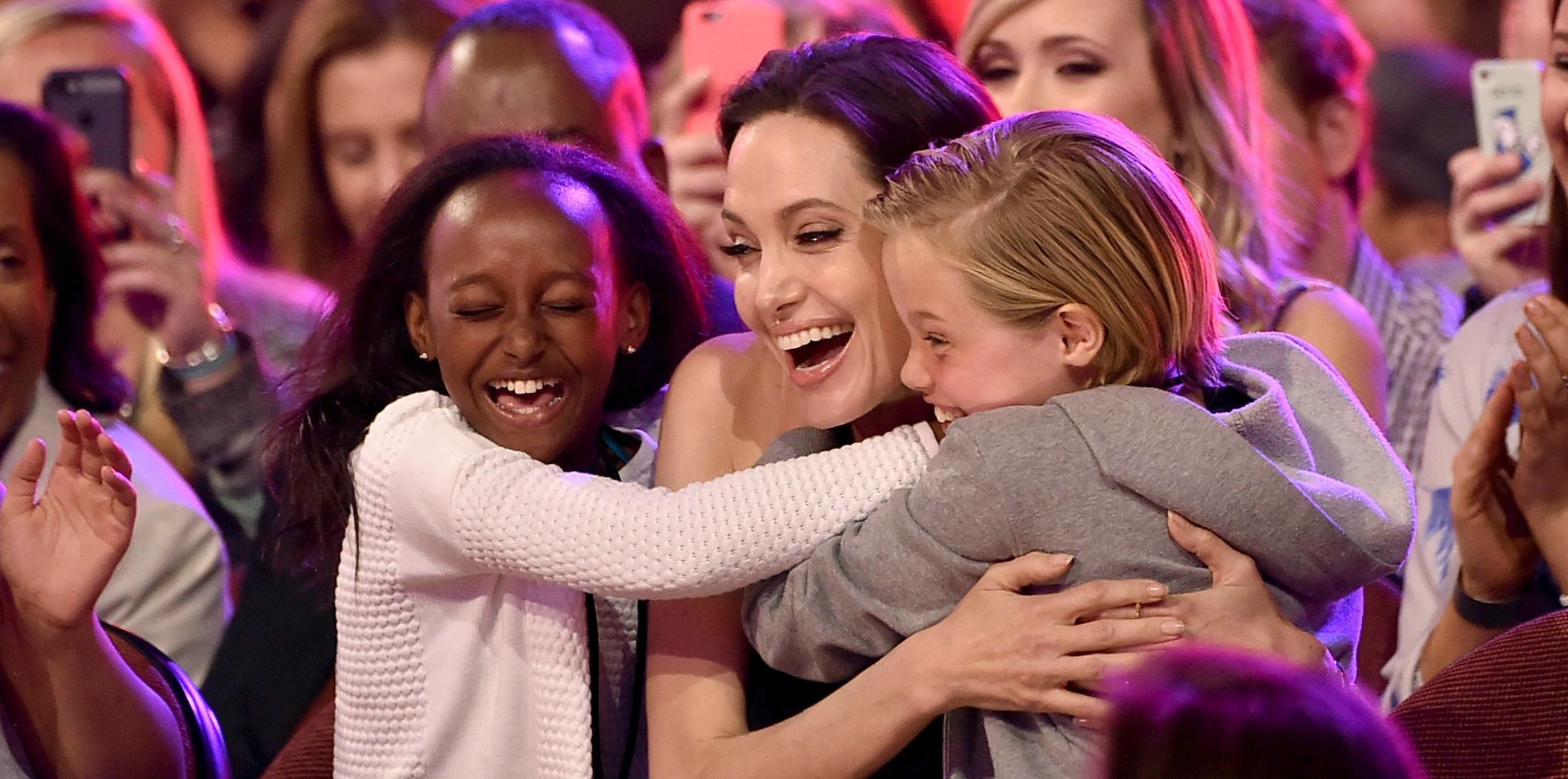 Angelina Jolie Daughter Shiloh Birthday Disneyland Long
