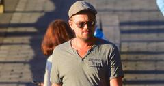 EXCLUSIVE: Leonardo Dicaprio Stops to Give Elderly Couple Directions as he walks his dog with his Club Owner Pal Richie Akiva