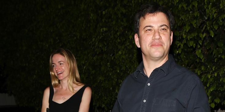 Jimmy Kimmel and Molly McNearney celebrate Valentine's Day at Giorgio Baldi