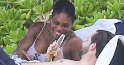 *PREMIUM EXCLUSIVE* Parents to be Serena Williams and Alexis Ohanian cozy up on the beach