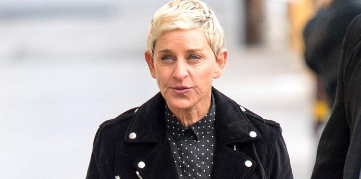 Ellen Degeneres Wearing Black Jacket with Buttoons
