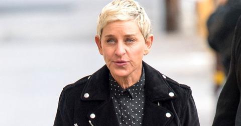 Ellen Degeneres Wearing Black Jacket with Buttoons