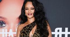 Rihanna Animal Print Dress Red Carpet Forehead