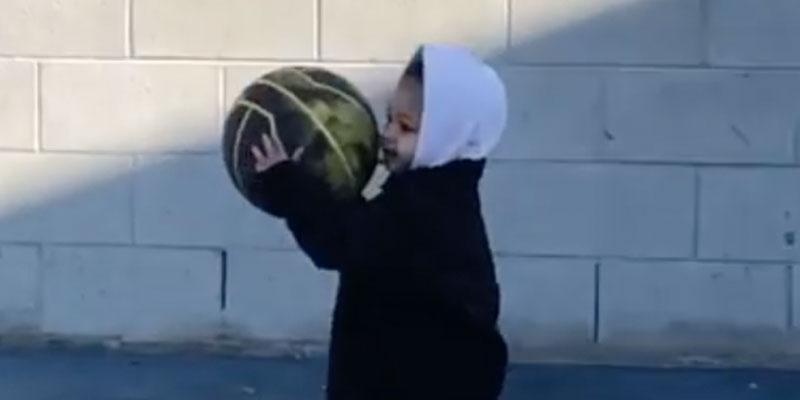 Kylie Jenner's Daughter Stormi Playing Basketball