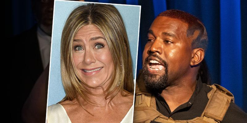 ee Kanye's Reaction To Jennifer Aniston Saying Not To Vote For Him