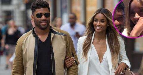 Newly weds Ciara and Russell Wilson take a happy stroll along Regent Street