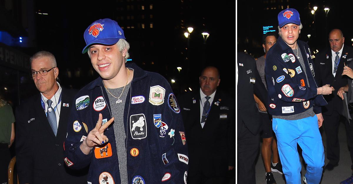 pete davidson arrives at madison square garden in nyc
