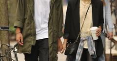 Zoe Kravitz holds hands with boyfriend Noah Gabriel as they stroll through the East Village, NYC