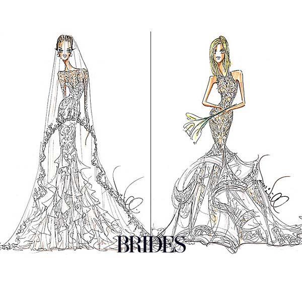 Angelia jolie jennifer aniston wedding dress compare theia