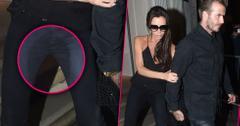 Victoria beckham wardrobe malfunction pee pants