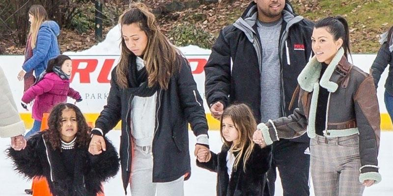 Kourtney kardashian takes north west penelope disick ice skating nyc ok pp