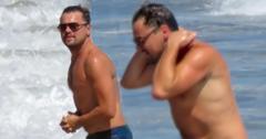 Leonardo dicaprio beach