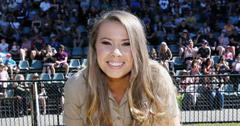 pregnant bindi irwin glimpse daughter jungle themed nursery photo