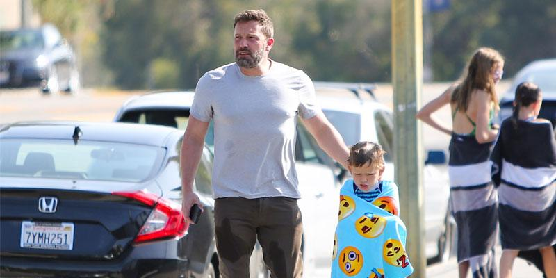 Ben Affleck Takes Son To Swim Class