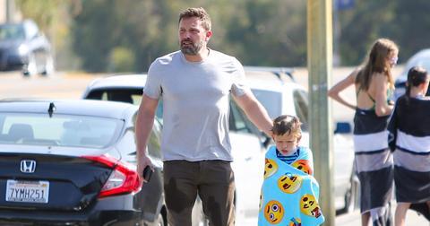 Ben Affleck Takes Son To Swim Class