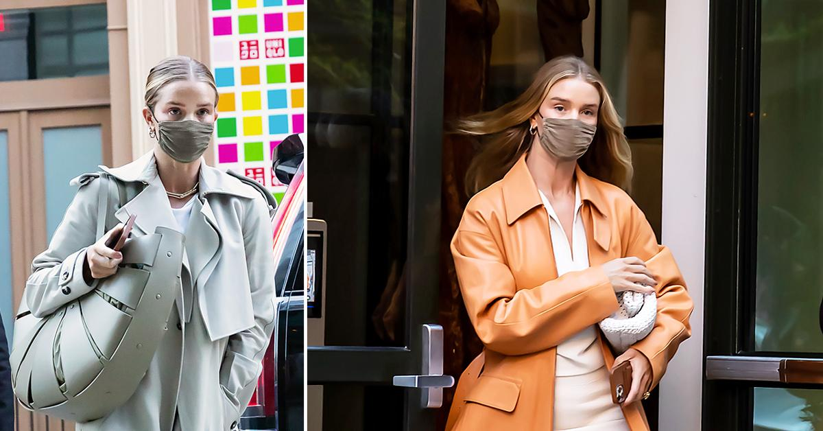 rosie huntington whiteley looks chic as she steps out in nyc ok